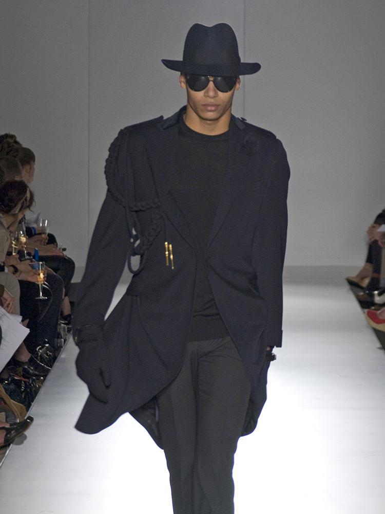 draped overcoat