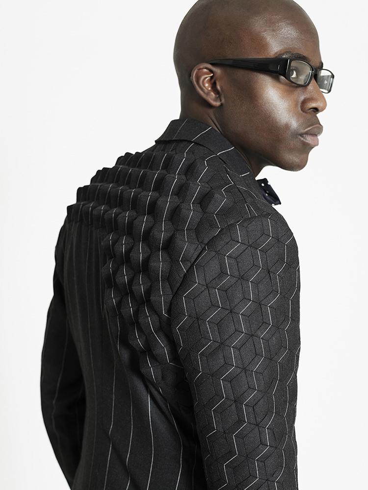 3D pinstripe suit